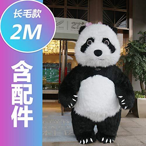 YYYDHW Bambola Gigante del Costume della Bambola del Fumetto dell'Abbigliamento della Bambola del Fumetto del Panda Gigante@Panda Gigante 2 Metri_Taglia Unica
