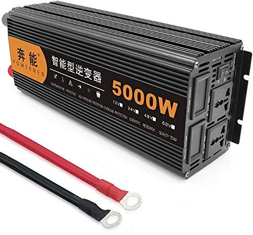 Inversor Onda Sinusoidal 3200W 4000W 5000W 6000W 8000W 9000W 12000W 15000W(Pico) Inversor Onda Pura Inversor de Corriente para automóvil DC 12V/24V a AC 220V/230V Transformador (12V,5000W)