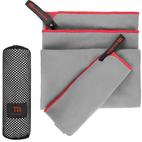 MAVE ATHLETIC® Mikrofaser Handtücher Einzeln oder 2er-Set - Schnelltrocknende Microfaser Handtücher für Fitness & Sport - Enorm platzsparendes Reisehandtuch Set - Ideal für Outdoor & Reisen