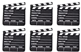 Rhode Island Novelty 7 Inch x 8 Inch Hollywood Movie Clapboard, Six Per Order