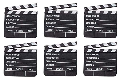 LOT OF 6 HOLLYWOOD CLAPPERS MOVIE CLAPBOARD CLAPPERBOARD WHOLESALE BY DISCOUNT PARTY AND NOVELTY
