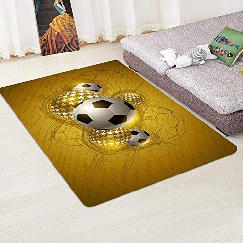Football tapijt gebied Memory Faom Crystal Velvet Smooth Carpet Jongens Kinderkamer Speel Mat Big Woonkamer van het Huis Carpets) dljyy (Color : C, Size : 60x180 (24x71inch))