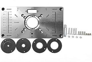 Lasamot Multifuncional Placa de inserção de mesa para madeira Banco de madeira de alumínio, modelos de máquina de gravação...
