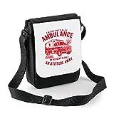 bubbleshirt Mini Borsa a Tracolla Emergency Ride Ambulance - Ambulanza - Idea Regalo - in Poliestere Misura 18x22 cm