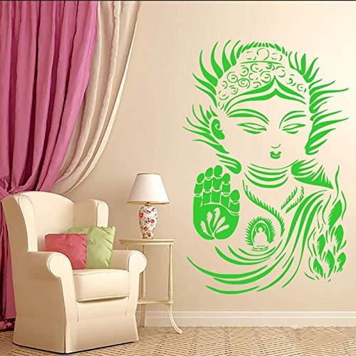 hetingyue Muursticker Zen Boeddhistische Yoga Meditatie Muursticker muurschildering Slaapkamer Home Art Decoratie Vinyl Sticker