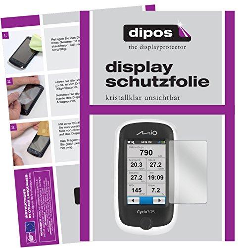 dipos I 3X Schutzfolie klar kompatibel mit Mitac Mio Cyclo 305 HC Folie Displayschutzfolie