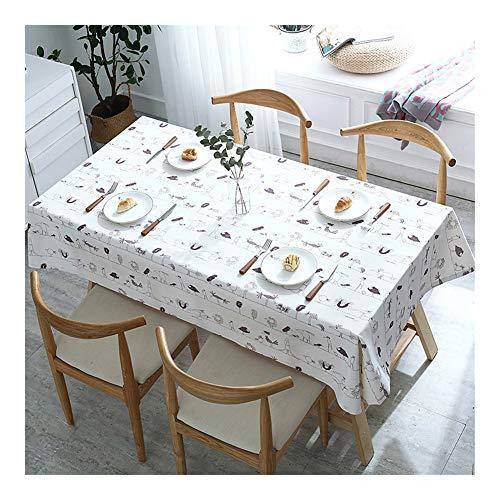 Mantel rectangular para mesa de café o cocina, mantel antisuciedad, duradero y fácil de limpiar., 4#, 135*135cm