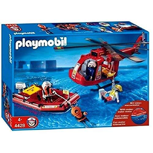 PLAYMOBIL 4428: Helicóptero y Bote de Rescate