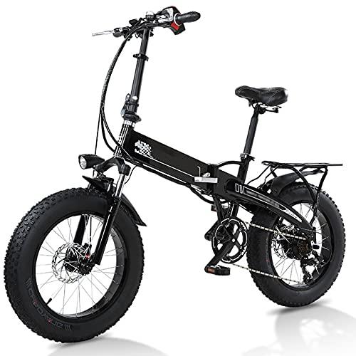 BAHAOMI Bicicleta Eléctrica 48V10AH Batería De Litio del Motor De 350W E-Bike...