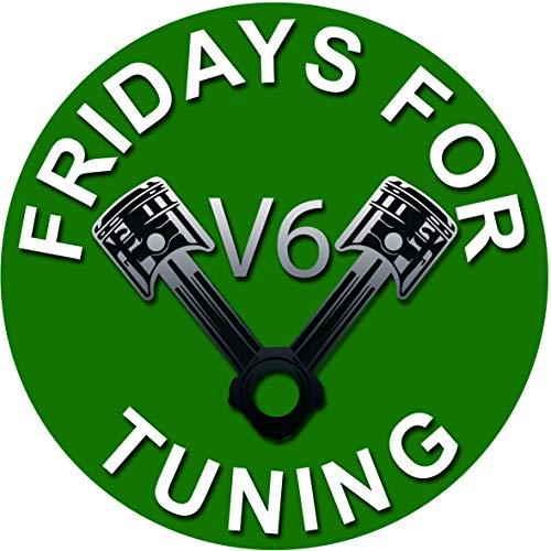 Fridays for Hubraum Auto V6 Sticker Fuck You Greta Aufkleber - es reicht Dirty Diesel Sticker Autoaufkleber Felgen Tuining Sticker Autotuning CO 2 Skandal