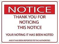 この通知に注意していただきありがとうございます メタルポスター壁画ショップ看板ショップ看板表示板金属板ブリキ看板情報防水装飾レストラン日本食料品店カフェ旅行用品誕生日新年クリスマスパーティーギフト