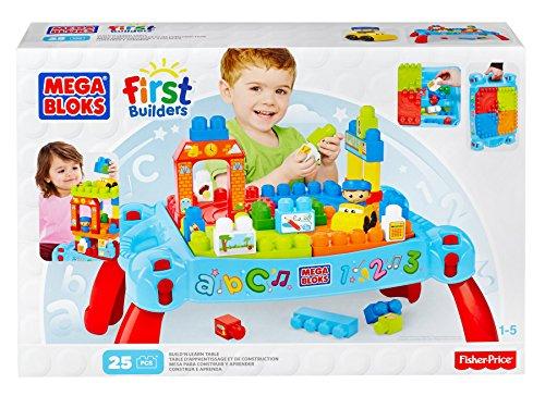 Mattel Mega Bloks First Builders DCH98 Bau- und Spieltisch - neue Farben