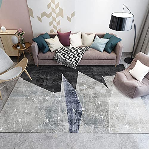 La Alfombra alfombras baño Antideslizante Carpeta de diseño geométrico Azul Gris Negro Lavable alfombras Juveniles para Dormitorio alfombras para niños 80*150CM