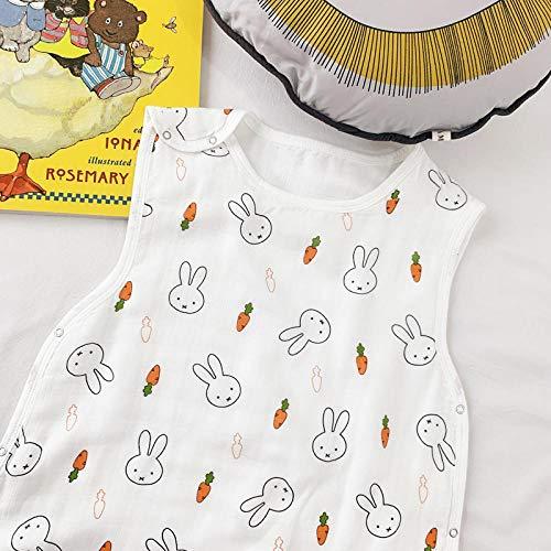 B/H Ganzjahres Baby-Schlafsack,Babyschlafsack aus Reiner Baumwollgaze,Anti-Kick-Steppdecke mit hoher Dichte für Kinder-B_M,Baby Schlafsack Schön waschbare