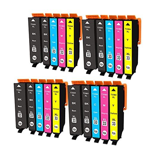 Ouguan cartucce di inchiostro compatibili Epson 33 XL per Epson Expression Premium xp-530 xp-540 xp-630 xp-635 xp-640 xp-645 xp-830 xp-900 stampante