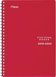 Five Star Student 2019-2020 Academic Year Weekly & Monthly Planner, Small, 5-1/2