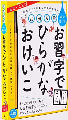 武田双雲 水で書けるお習字でひらがなおけいこ ([バラエティ])