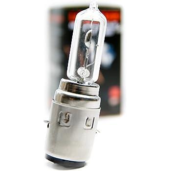 2x Lampe Birne Weiß LED BA20D S2 Scheinwerfer 12V 12W 12W Hi//Lo Roller Motorrad