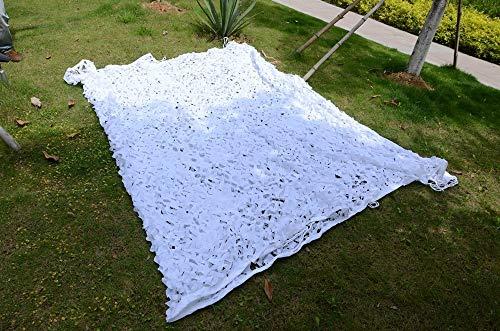 Qjifangztype luifel voor terras Shading Net Camouflage Net Oxford stof voor feestjes in de open lucht, verschillende maten, wit, camouflagennet, zonnewering net 5 * 6M