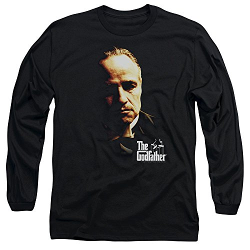 The Godfather - - T-shirt manches longues Don Vito Hommes, X-Large, Black