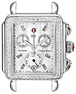 MICHELE Women's MW06P01A1046 Swiss Quartz Stainless Steel Watch Head With Diamonds image