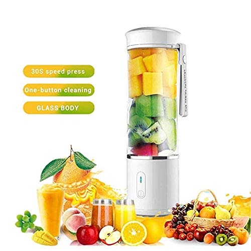 Buy HHRen 500Ml Mini Electric Juicer Blender USB Rechargeable Personal Smoothie Cup, Baby Food Mixer...