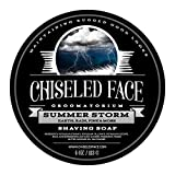 Summer Storm by Chiseled Face — Handmade Luxury Shaving Soap — Rich, Thick Lather — Smooth,...