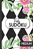 Medium Sudoku: Pretty Pocket Sized Sudoku Puzzle Book for Women | Small Traveling Size is Perfect for Purse, Briefcase or Bag