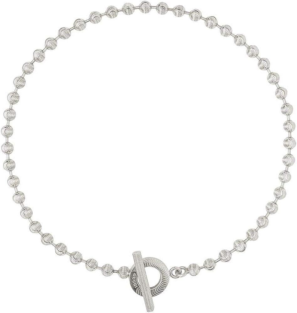 Gucci collana da donna in argento sterling e presenta una finitura lucida YBB6027360010L