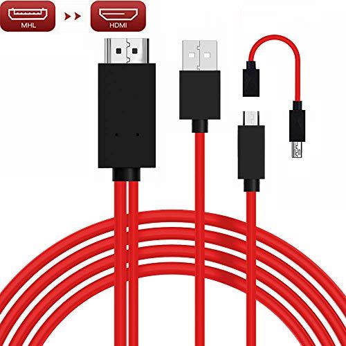 Micro USB a HDMI, MHL a HDMI, convertidor de micro USB a HDMI para teléfonos inteligentes Android, adaptador de micro 5 pines a 11 pines, adaptador MHL micro USB a HDMI