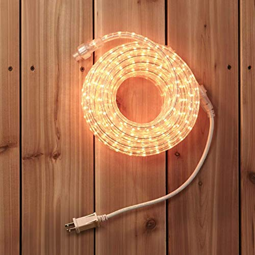 NOMA 30 Ft Rope Light | Incandescent Plug-in, Connectable, Indoor/Outdoor, Waterproof | Ideal for Christmas, Holiday, Deck, Patio, and Backyards | UL Certified, Warm White