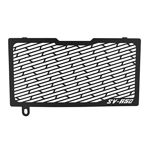 MUJUN Front Radiator Grille Guard Cover Protector Stainless Steel Black for SUZUKI SV650 SV650X SV 650 X 650X 2016 2017 2018 2019 2020