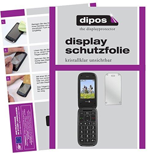 dipos I 2X Schutzfolie klar kompatibel mit Doro PhoneEasy 613 Folie Bildschirmschutzfolie