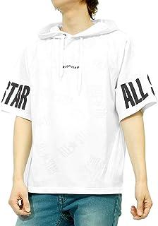 コンバース(CONVERSE) パーカー メンズ 半袖 プルオーバー ALLSTAR ロゴ プリント Tシャツ カットソー