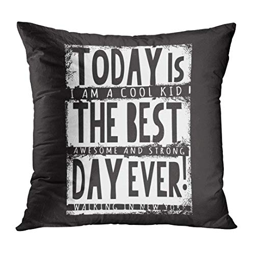 LOULNN Throw Pillow Cover Stay Cool Awesome Slogan Graphics Street Tee Always Best Black Decorative Pillow Case Home Decor Square 18x18 Inches Pillowcase