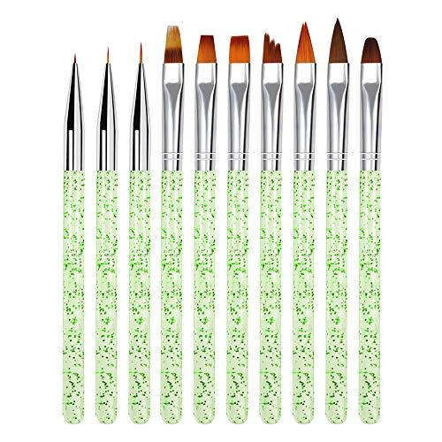 Ensemble de pinceaux de peinture acrylique Symina - 10 pinceaux, manche long - ensemble de pinceaux idéal pour acrylique, huile, peinture à ongles - parfait pour la conception artistique