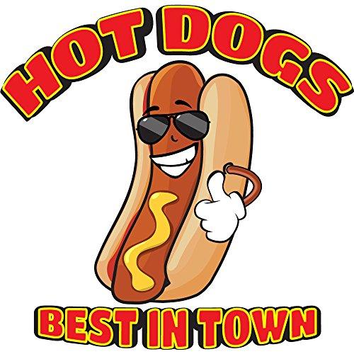 Hot Dogs All Beef 8 Concession Decal Sign Cart Trailer Stand Sticker Equipment