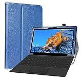 Labanema Funda para Teclast X4, Slim Fit Carcasa de Cuero Sintético con Función de Soporte Folio Case Cover para 11.6' Teclast X4 2 in 1 Laptop Tablet - Azul
