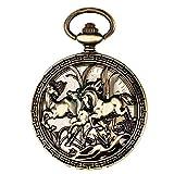 ZHJBD JIAN Pocket Watch, Uomini E Donne Orologi Meccanici Automatici Lettino A Fogli Mobili retrò Orologio da Tasca Vuota for Commemorare
