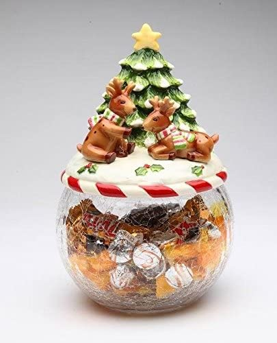 I Believe: Playing Deluxe Ranking TOP14 Reindeer with Tree Jar Collec on Glass Cookie