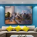 Precioso Gato y un Tigre en el Espejo Póster Impresiones de Pared Arte sofá Dormitorio decoración del hogar Artistas de...