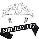 Coucoland Corona de cristal con diamantes de imitación de cristal para la cabeza de princesa, accesorio para cumpleaños