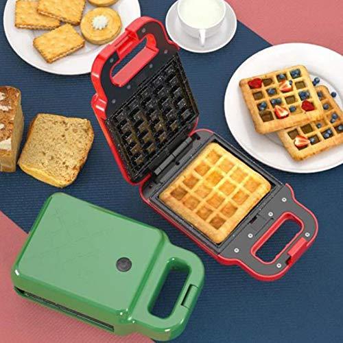 2-In-1 Mini Sandwich Maker, Personal Waffle Maker Machine Multifunktionale Waffeln Sandwich Light Food Machine, Leicht Zu Reinigen Und Antihaftgitter,Rot