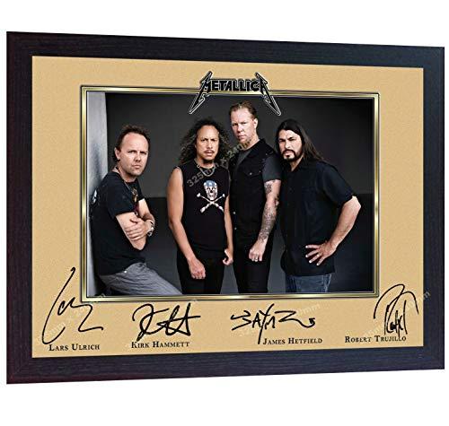SGH SERVICES Metallica James Hetfield Rockband Music signierter gerahmter Foto-Druck, gerahmt