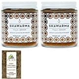 Villa Jerada, Shawarma Premium Seasoning - Aromatic Levantine Spice Blend (Wonderful For Chicken, Beef, Lamb), 1.76 oz (Pack of 2) + FREE Premium Turkish Oregano from Rhino Fine Foods, .035 oz