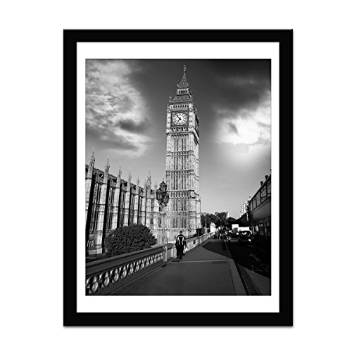 Soonrada 12x16 Frame Black Picture Frames to Display 11x14 Documents with Mats 12 x 16 Black Real Wood Photo Frame Wall Art for Office Living Room Wall Decor