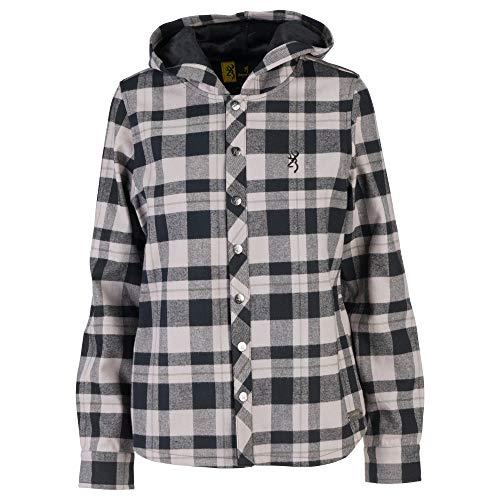 Browning Damen Lantana Shirt Jac Gesteppte Jacke, Black Plaid, Small