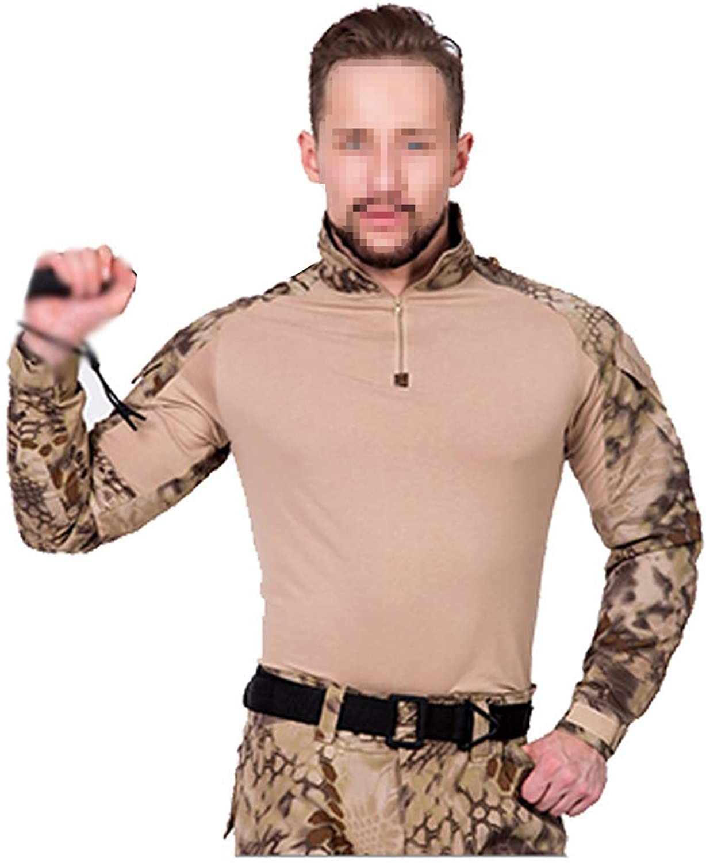 Desert Camouflage Suit for Men's Training Uniforms Wild Appearance Bird Photography Cs Field Suit Sportswear Multi-Size Optional (Size   M)