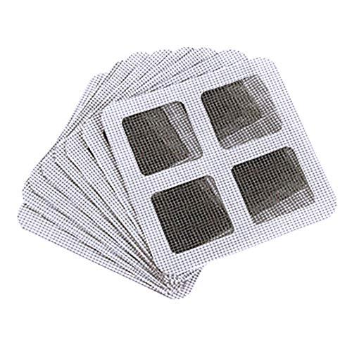 Yissma zelfklevende mug bug insect gordijn patch 20 stuks insectenwerende vlieg deur venster muggen scherm net reparatie tape patch lijm
