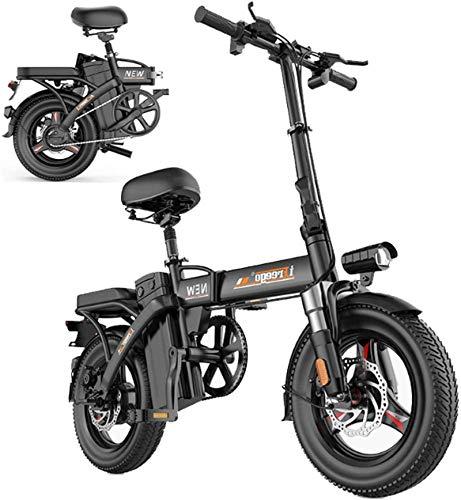 Bicicleta eléctrica de Ebikes para adultos, bicicleta eléctrica plegable Ebike con motor de 280W, 14 pulgadas 48V E-bicicleta con batería de litio de 8-36Ah, bicicleta de la ciudad Velocidad máxima 25